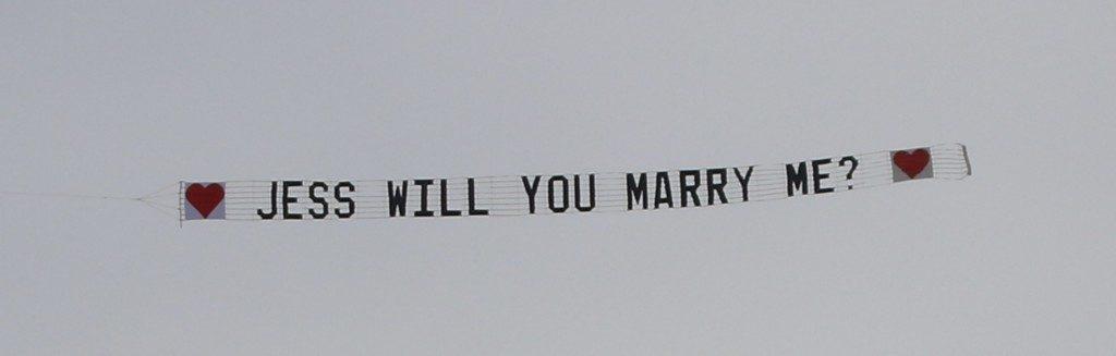 Travis Gold Coast Surprise Marriage Proposal Message