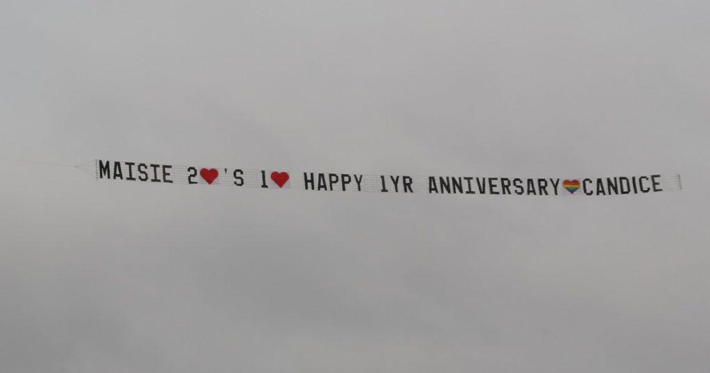 World First - Aerial Rainbow Love Heart Flys
