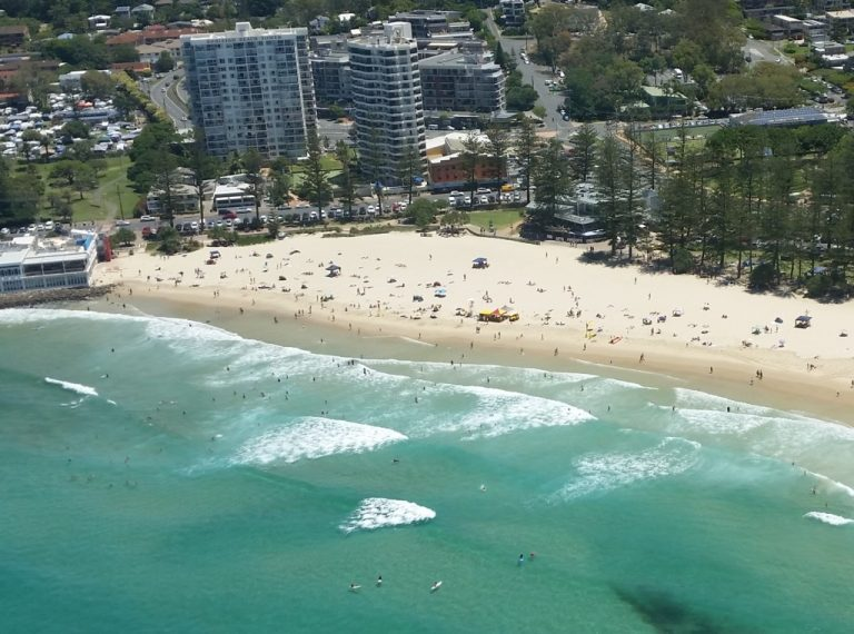 Burleigh Heads Beach is another sheltered beach which is always popular