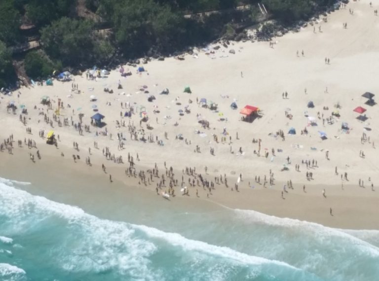 Standing room only! on this crowded beach, gold-coast australia