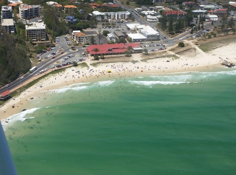 Kirra Beach - one of the best surf beaches in the world.