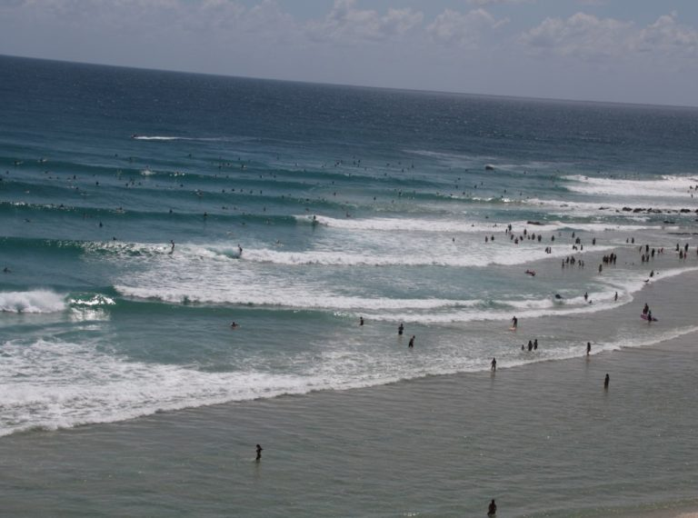 Millions of people enjoy the surf and beaches annually, as shown