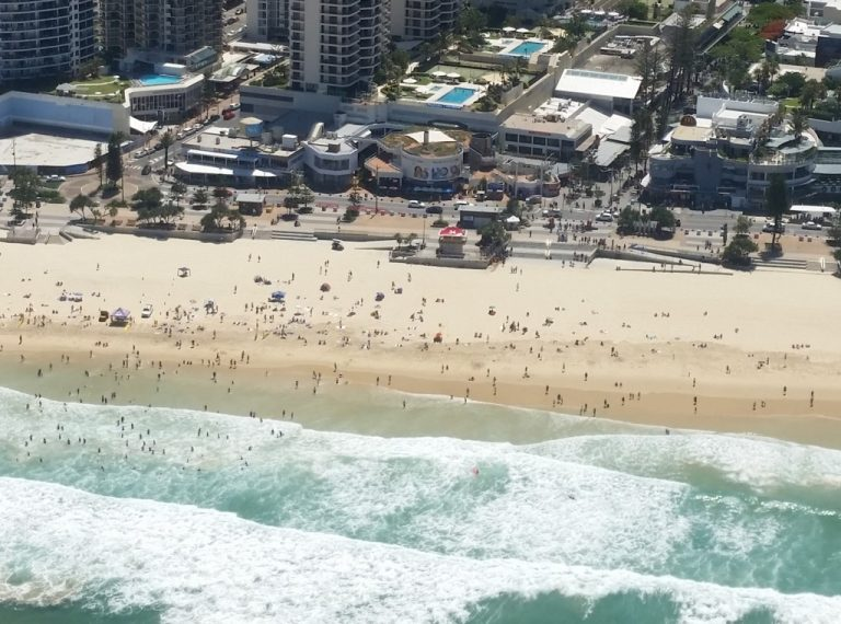 Cavill Avenue Surfers Paradise. Not only packed beaches, but cafes and people everywhere