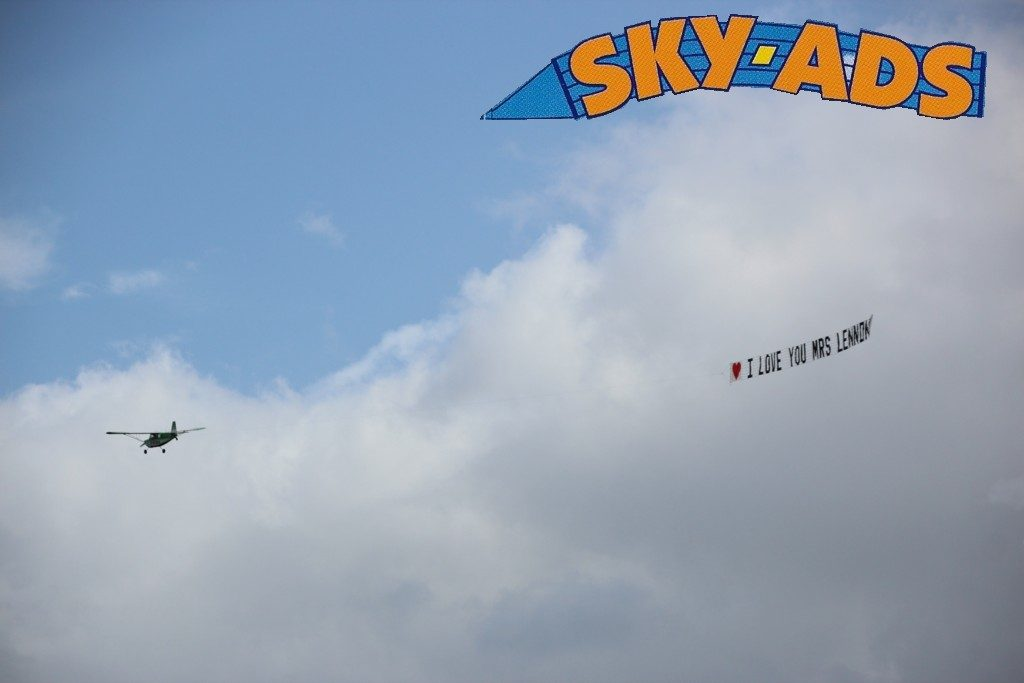sky-ads banner flying straight and true