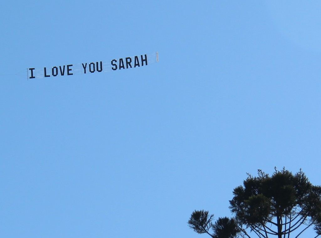 Ultimate Valentine's Day Idea a sky banner