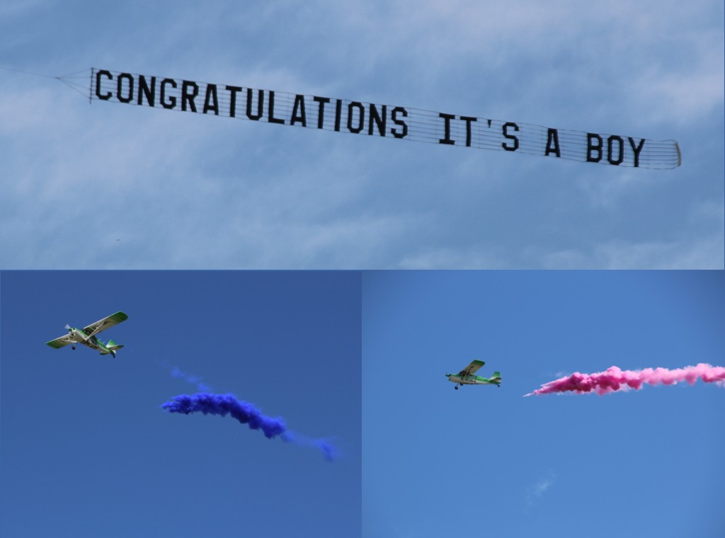 Pictures of aerial Gender reveal options