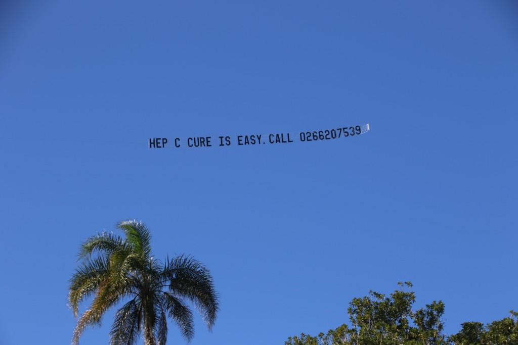 Hep C Aerial Banner