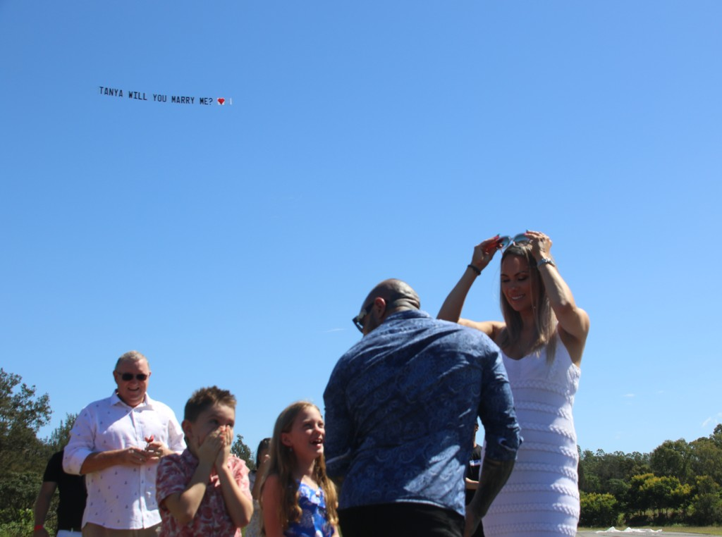 Family excited by Marriage Proposal