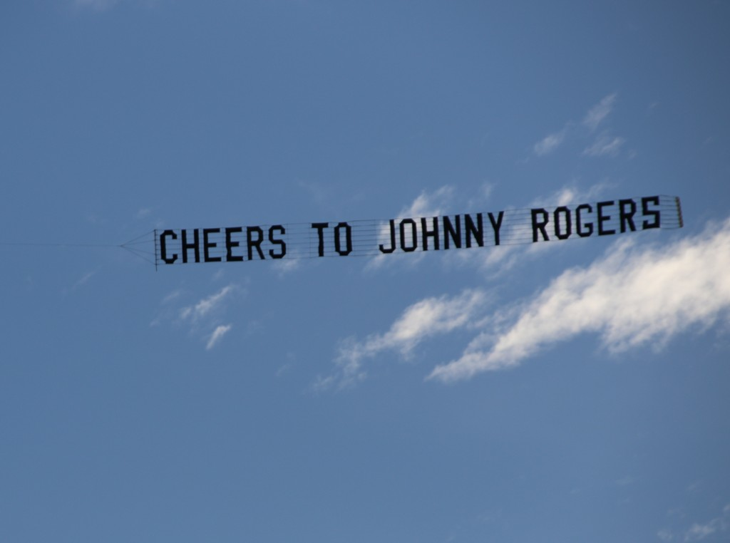 Tribute Banner towing behind aircraft scattering ashes