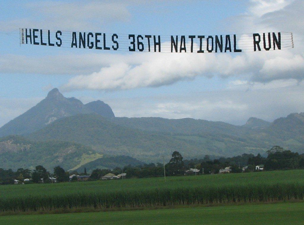 Hells angels aircraft marketing banner