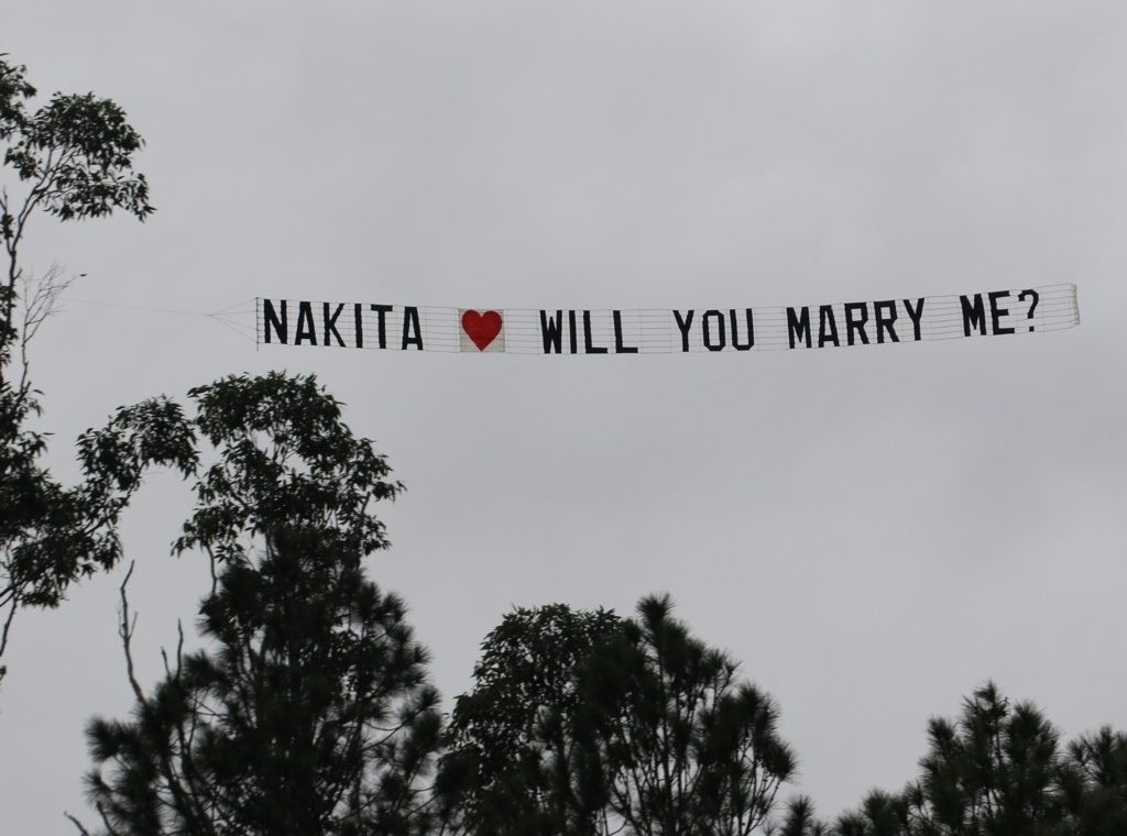 Aerial Marriage Proposal