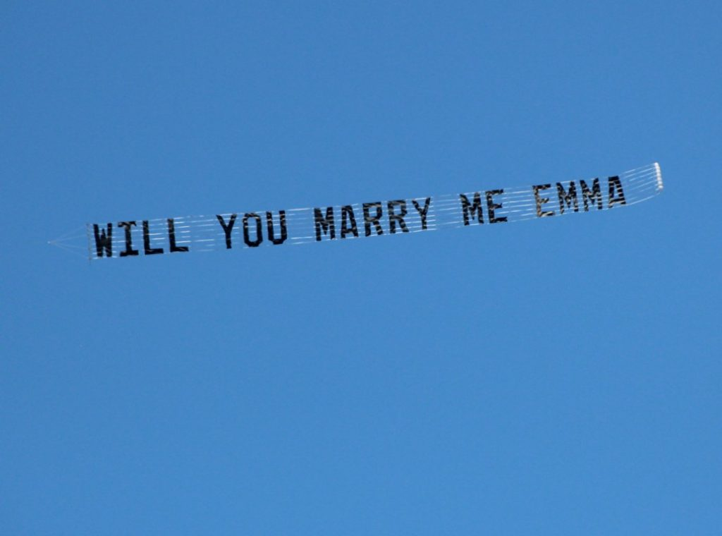 Marriage Proposal in the Sky