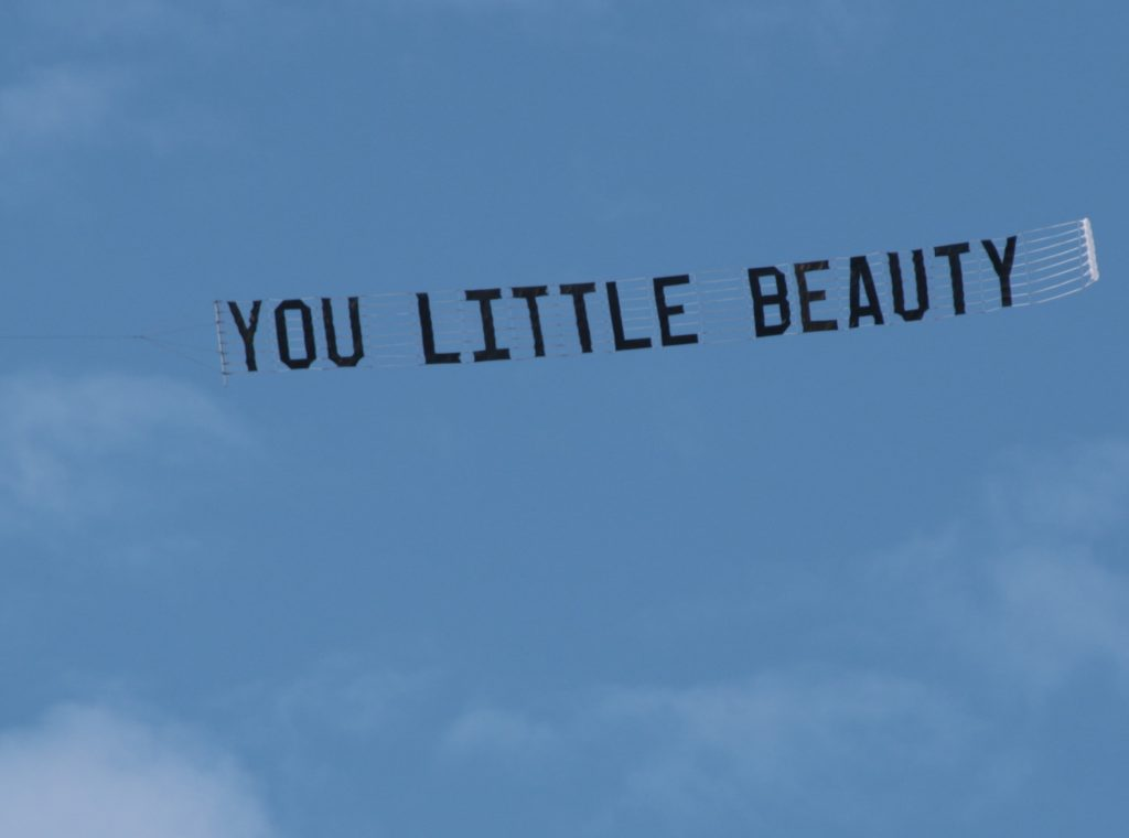 "Sky Advertising for a new song ""You Little Beauty"""