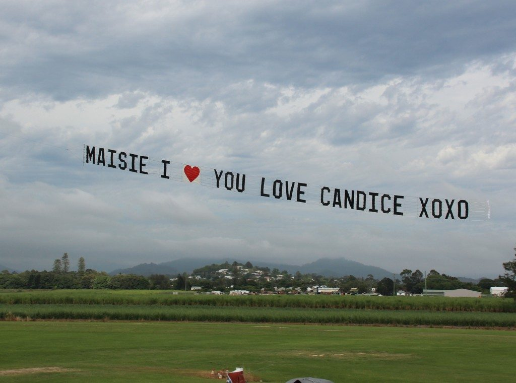 lgbt-marriage-proposal-sky-sign. Masie I Heart You, Love Candice
